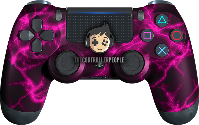 Pink Lightning PS4 Controller