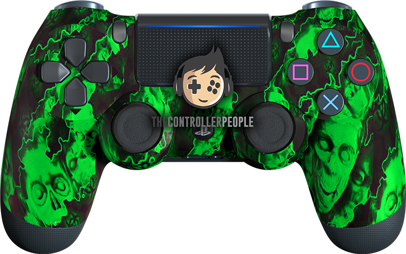 Green Zombie PS4 Controller